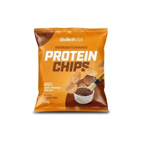 BioTech USA Protein Chips Barbecue 25g Tüte