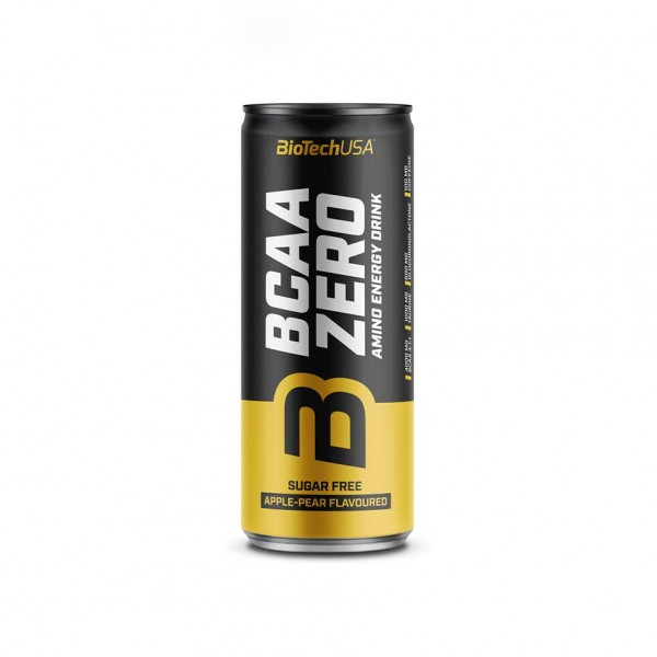 BioTech USA BCAA ZERO Energy Drink 330ml Apple Pear