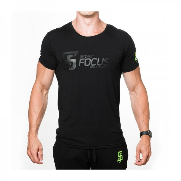 Stay Focused Performance T-Shirt V2 in schwarz
