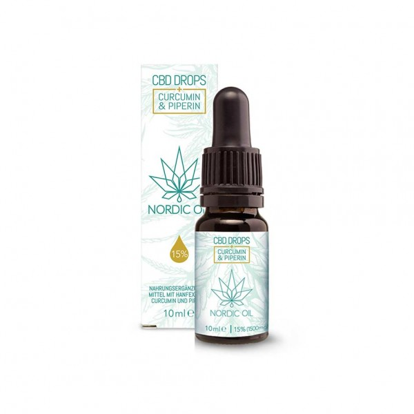 Nordic Oil CBD Drops 10ml - 15% + Curumin & Piperine