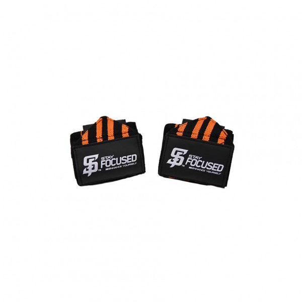 Stay Focused Wrist Wraps - orange / black