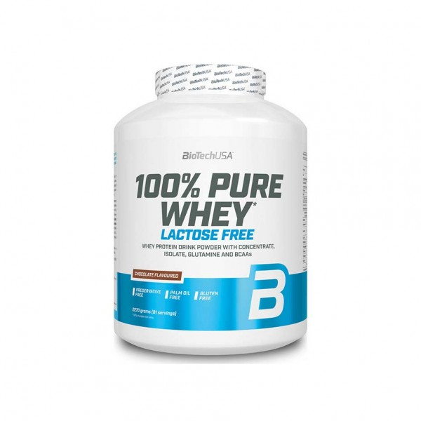 BioTech USA 100% Pure Whey Lactose Free 2270g Dose