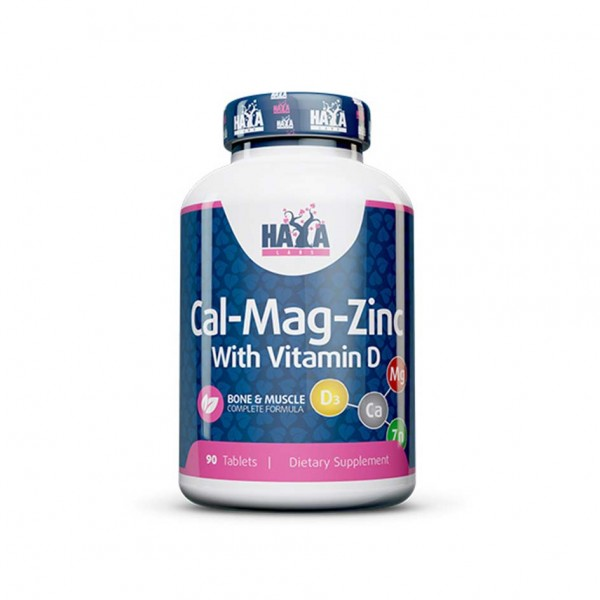 HAYA LABS Calcium Magnesium & Zinc with Vitamin-D 90 Tabletten Dose